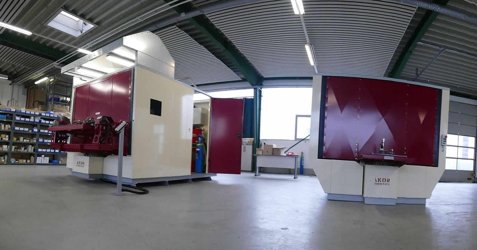 Montagehalle der Firma AKON Robotics